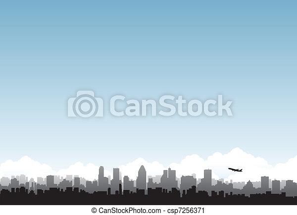 ciudad, horizonte - csp7256371