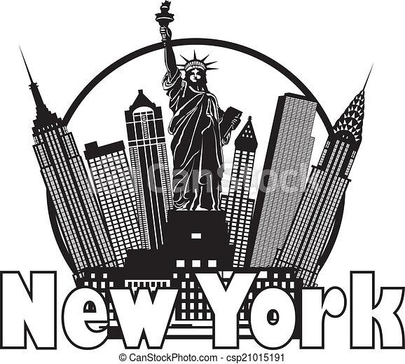 Una ilustración de círculos en Nueva York - csp21015191