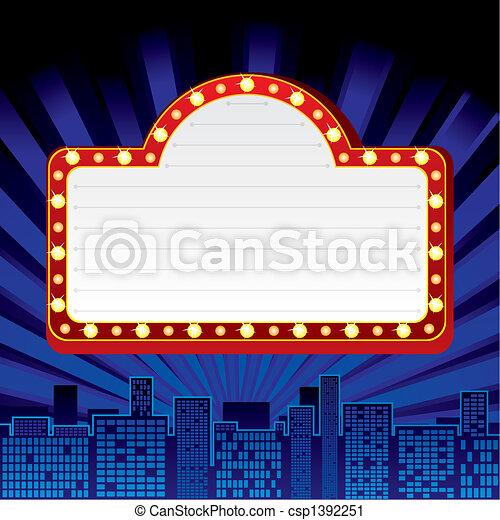 El letrero de Neon en la ciudad - csp1392251