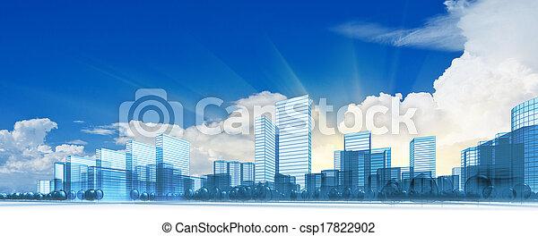 Ciudad moderna - csp17822902