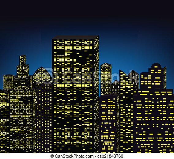 Ciudad Nocturna - csp21843760