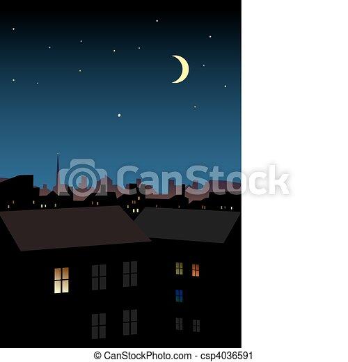 Ciudad nocturna - csp4036591