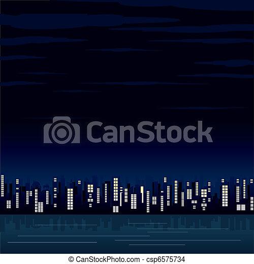 Ciudad Nocturna - csp6575734