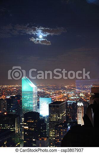 Nueva York Noches de la Ciudad - csp3807937