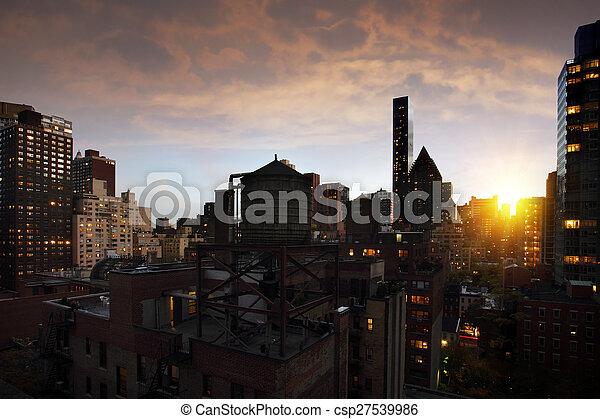 ciudad nueva york - csp27539986