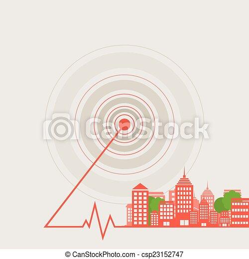 ciudad, onda - csp23152747
