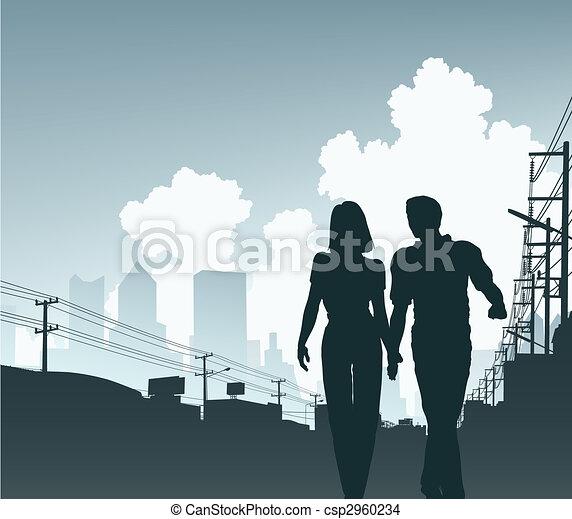 ciudad, pareja - csp2960234