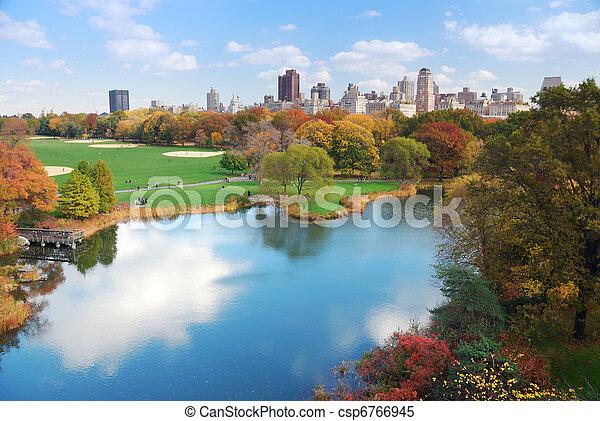 ciudad, parque central, york, nuevo, manhattan - csp6766945