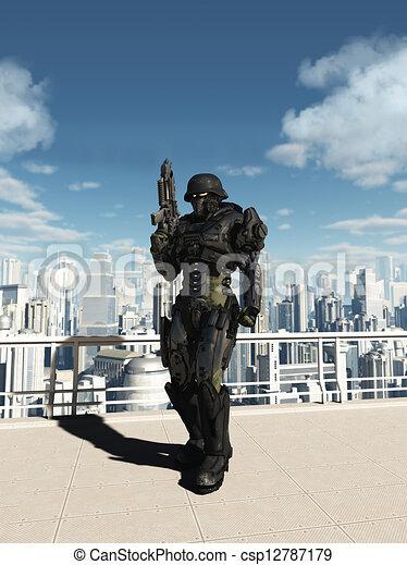 ciudad, patrulla, espacio, -, marina, comando - csp12787179
