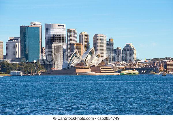 El puerto y la ciudad de Sydney - csp0854749