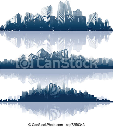 ciudad, reflexiones - csp7256343