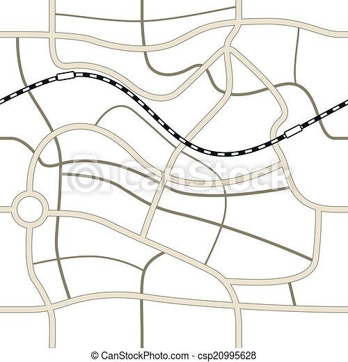 Ilustración del mapa de la ciudad - csp20995628