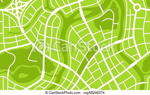 Abstraer la bandera del mapa de la ciudad. - csp58246374