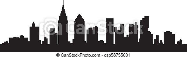 Silueta de la ciudad - csp58755001
