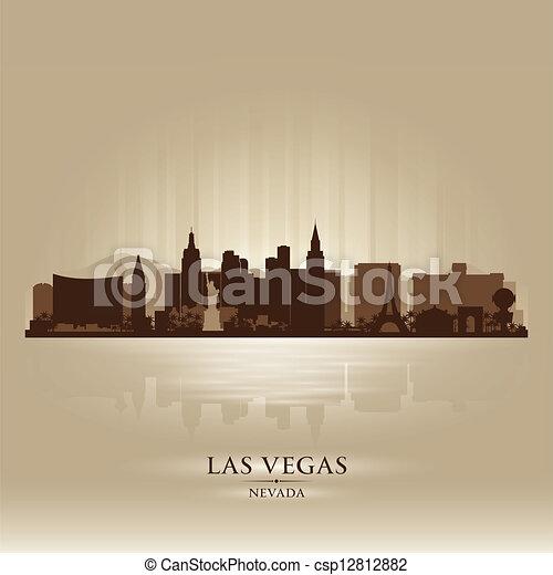Las Vegas, nevada Skyline City Silhouette - csp12812882