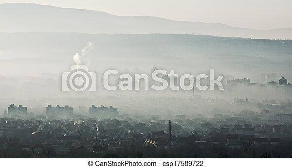 ciudad, ??smog - csp17589722