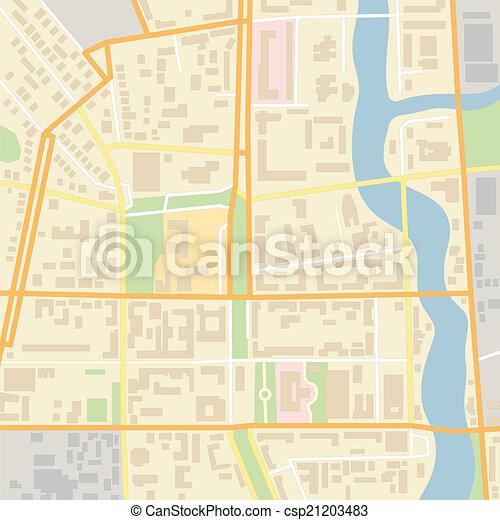 El mapa de Vector City - csp21203483