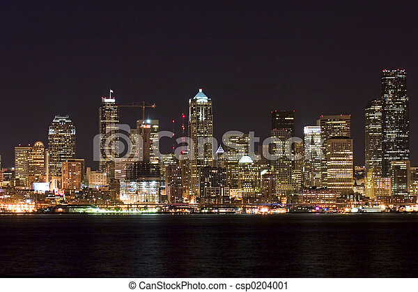 ciudad, vida nocturna - csp0204001