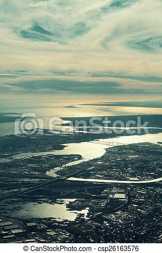 Vista aérea de la ciudad - csp26163576