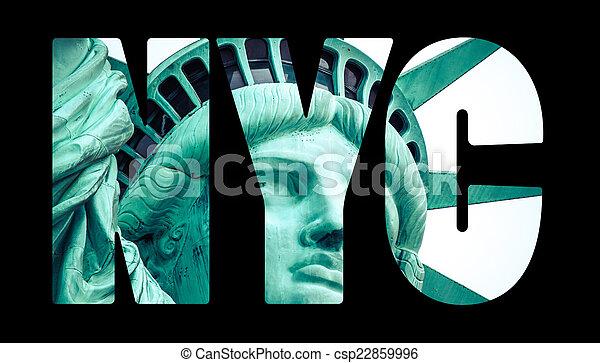 La estatua de la libertad en Nueva York - csp22859996