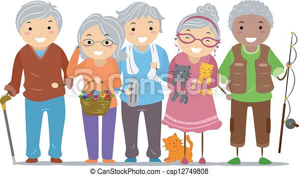 Los ancianos, el paloman - csp12749808