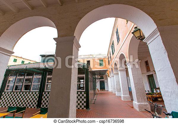 ciutadella, 島, balearic, menorca, 市場 - csp16736598