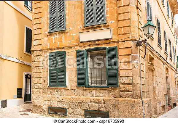 Ciutadella Menorca historic downtown in Ciudadela - csp16735998