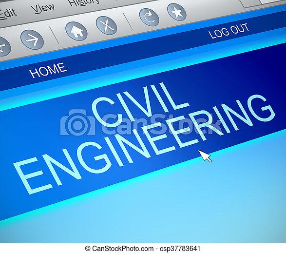 Civil engineering concept. - csp37783641