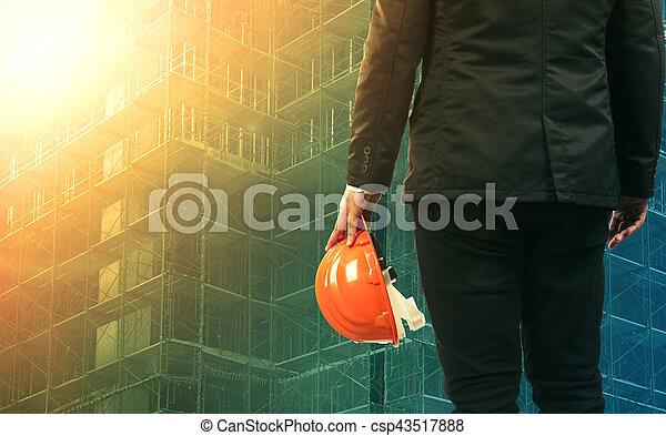 civil engineering man working in construction site - csp43517888