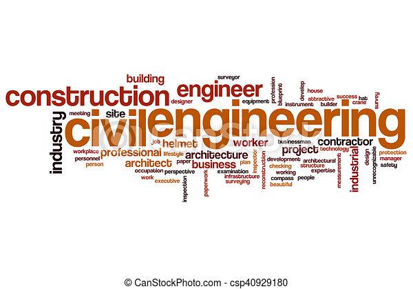 Civil engineering word cloud - csp40929180