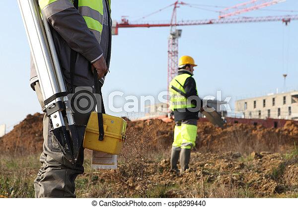 Civil engineers onsite - csp8299440