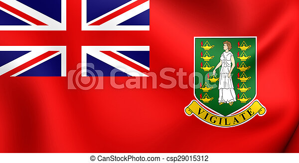 Civil Ensign of British Virgin Islands - csp29015312