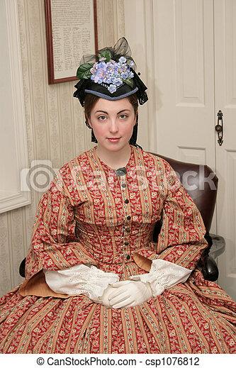 Mujer de la Guerra Civil - csp1076812