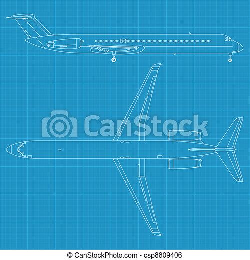 civil, repülőgép, modern - csp8809406