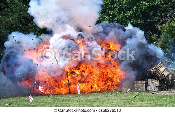 Civil War Re-enactment - explosion - csp8276518