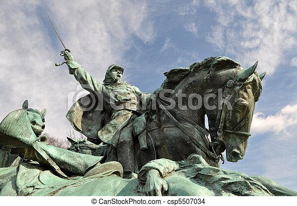 Civil War Soldier Statue - csp5507034