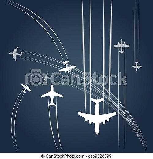 civile, airplanes`, trasporto, percorso - csp9528599