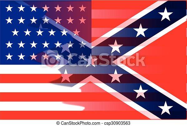 civile, bandiera, miscela, guerra - csp30903563