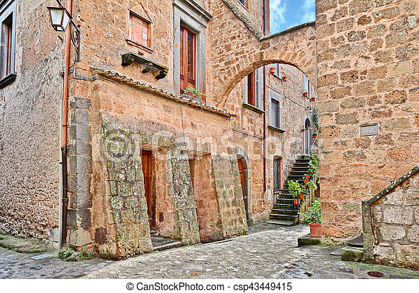 Civita di Bagnoregio, Viterbo, Lazio, Italy - csp43449415