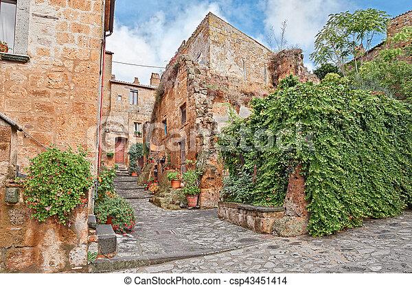 Civita di Bagnoregio, Viterbo, Lazio, Italy - csp43451414