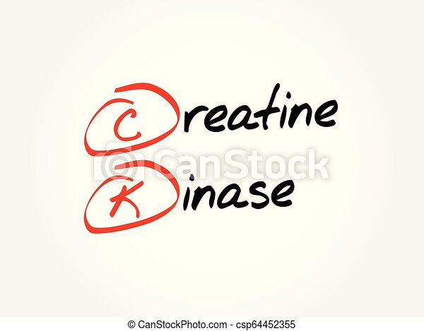 CK - Creatine Kinase acronym - csp64452355
