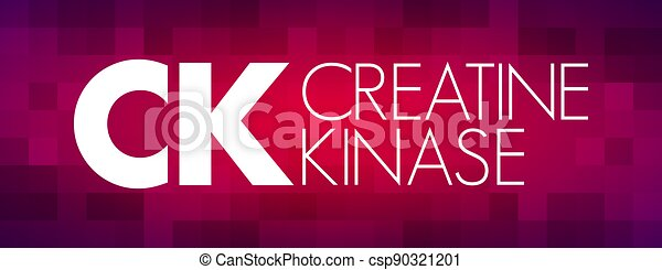 CK - Creatine Kinase acronym, medical concept background - csp90321201