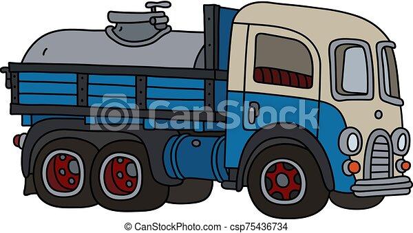 clássicas, leiteria, engraçado, caminhão tanque - csp75436734