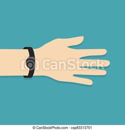 clã©, natation, gymnase, piscine, caoutchouc, vecteur, illustration, bande, électrique, icon- - csp83313701