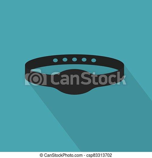 clã©, natation, gymnase, piscine, caoutchouc, vecteur, illustration, bande, électrique, icon- - csp83313702