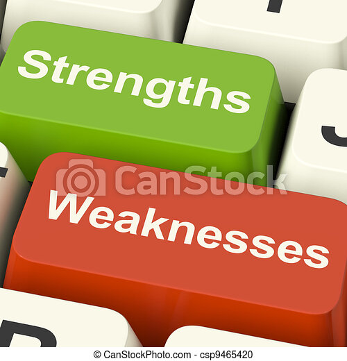 clés, faiblesses, informatique, analyser, performance, strengths, ou, spectacles - csp9465420