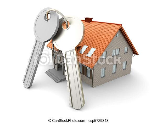clés, maison - csp5729343
