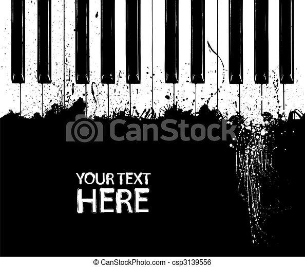 clés, piano, sale - csp3139556