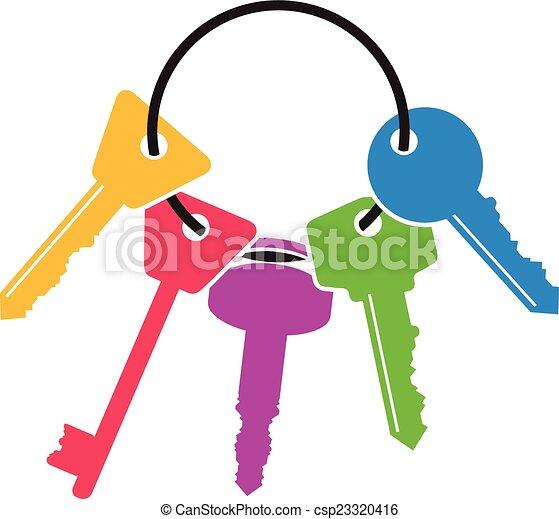 clés, tas - csp23320416
