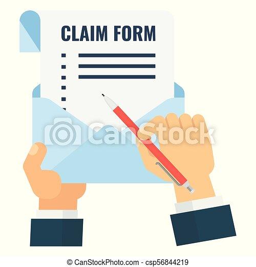 claim form blank - csp56844219